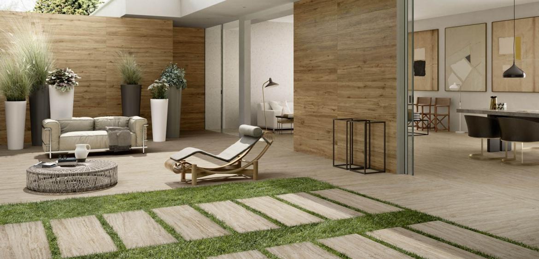 Vivere il giardino la bellezza del gres da esterno posato - Ghiaia x giardino ...